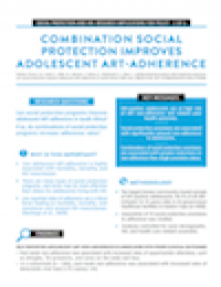Combination Social Protection Improves Adolescent ART Adherence