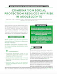 Combination Social Protection Reduces HIV-Risk in Adolescents