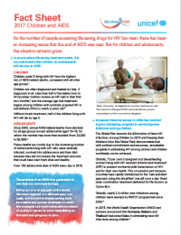 Fact Sheet: 2017 Children and AIDS