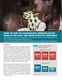 Point of Care - HIV Diagnosis: Bringing Faster Results for Each and More Effective Treatment