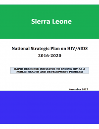 Sierra Leone National Strategic Plan on HIV/AIDS 2016-2020