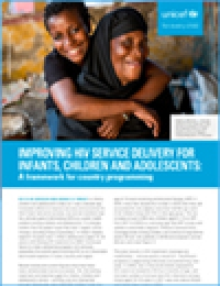 Improving HIV Service Delivery for Infants Children and Adolescents cover