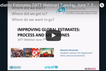 Paediatric Estimates Webinar (Jun 2016)