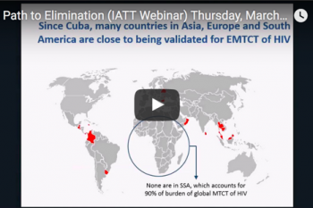 Image of WHO Elimination & Pre-Elimination Webinar Presentation
