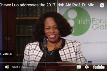 Keynote Address by Dr Chewe Luo at the 2017 Irish Aid Lecture