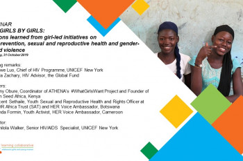AGYW Webinar 1 - FOR GIRLS BY GIRLS: Lessons learned from girl-led initiatives