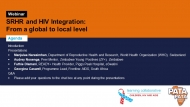 SRHR-HIV Integration: From a global to local level