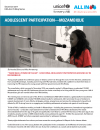 Adolescent Participation - Mozambique