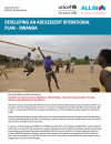 Developing an Adolescent Operational Plan - Rwanda