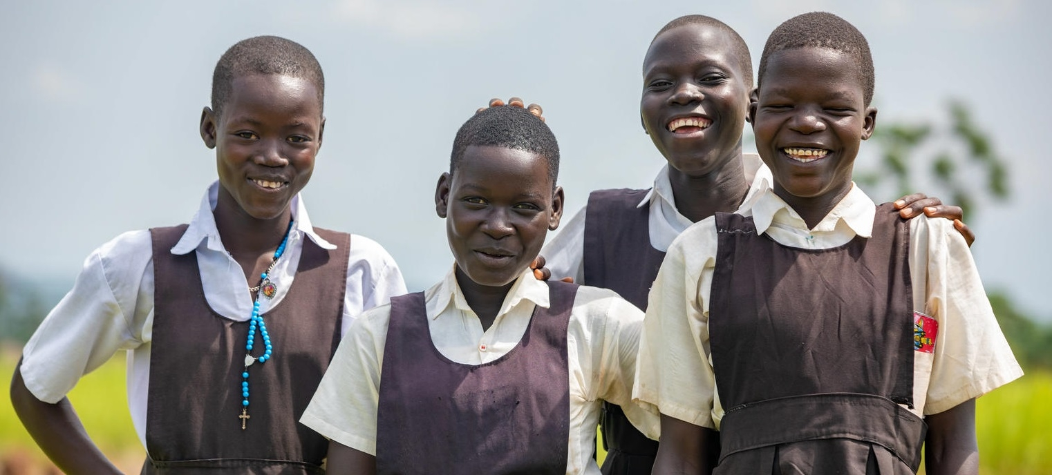 Members of the Girls Education Club (GEC) in Adjumani district, Uganda