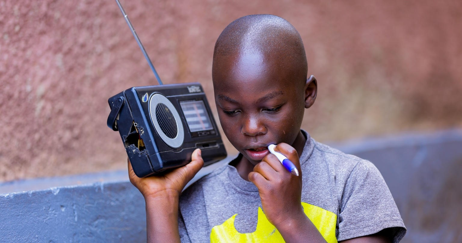 boy with radio